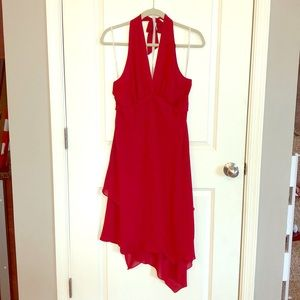 NWOT Sexy Halter Tie Red Dress